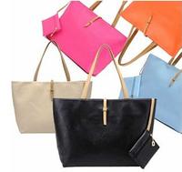 free shipping2014 women commuter belt buckle big bag wild colorful shoulder bag fashion shopping handbag drop shipping