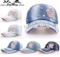 Free shipping fashion cotton denim berets caps, women jeans baseball cap,lady JEAN summer baseball hat/sports hat sunshine hat
