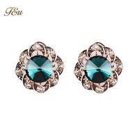New 2014 droplets blue crystal fashion jewellery women earrings!#1256