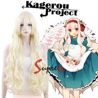 Kagerou Project Mekakucity actors KOZAKURA MARI Light Blonde Anime Cosplay Wig