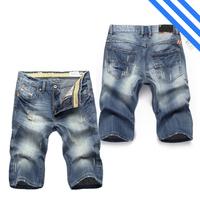 Free Shipping 2014/6/25 New Arrival Fashion Brand Famous Men's Jeans Shorts Denim Straight Jeans Shorts Men Size 28-40#GCA5821