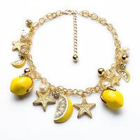 Fashion women's alloy fresh fruit pendant necklace