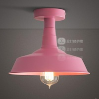Lamp fashion bar balcony american entrance lights child real aluminum cap ceiling light