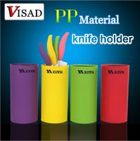 free shipping 4 colors Ceramic knife block ,casualness knife holder , multi-color knife block ,PP Material knife holder