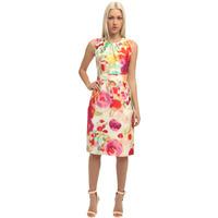 High Brand Fashion Women Multicolored Print Elegant Career Dress Slim OL Dresses ML041 Plus Size