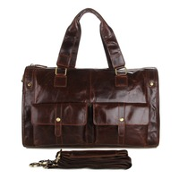 Special offer !2014 New Russia Style Men's Crazy horse leather Travel bags coffee business bag Male Large bags