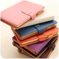 High Quality  Beautiful A5 notepad Spiral leather Business Notebook Stationery  Diary