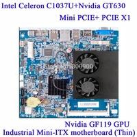Intel Celeron C1037U Nvidia GT630 graphics ION4 ITX motherboard platform