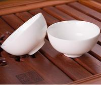 2 x Porcelain Tea Cup Bowl 60ml Drinkware White Ceramic Dehua Kungfu Tea Cup