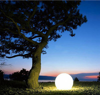 Newest hot 15cm LED glass ball Mood Light Colour Changing mood Night Lamp bedside baby lamp outdoor light 16 colors