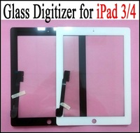For iPad 3 Touch Screen touchscreen Glass Digitizer LCD Touch Panel Replacement for iPad 4 for iPad3 DHL Free Shipping