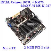 MAXSUN MS-D1037 all-solid version of the integrated dual-core Celeron C1037U MINI-ITX fanless mini motherboard
