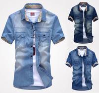 K75 New fashion Men's Jeans Casual Slim Stylish Wash-Vintage Denim Shirts