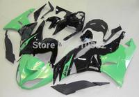 Motorcycle Fairing kit for KAWASAKI Ninja ZX6R 09 10 ZX6R 636 2009 2010 Green gloss black ABS Fairings set +7 gifts SD10