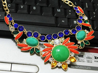 Necklace more than the sun flower flower color gems In the long gold necklace Bohemian XL612