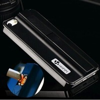 Creative Windproof Lighter phone case for iphone 5 5s smoke cases iphone5 back cover Cigarette cover luxury skin Free Shipping