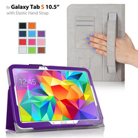 Stand leather Case for Samsung Galaxy Tab s 10.5 T800+hand hold+wallet card holder+sd card slot 11 colors 100pcs/lot freeship