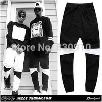 Top quality ,2014 men's harm pants brand sports fashion brand hip hop skateboard sweatpants block mosaic casual joggers trousers
