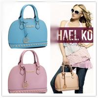2014 fashion women leather shell handbags famous brand shoulder bag messenger bag lady rivet totes 9 colors 36301