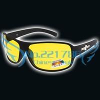 Yellow Lens Mens Sunglasses Night vision goggles Polarized Black Soft Acetate frame Wayfarer Eyewear