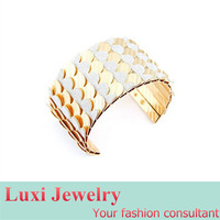 European Fashion Punk Multilayer Scale Bangle Bracelet  Metal Alloy Open Bangle 2014 New  Statement Jewelry for Women