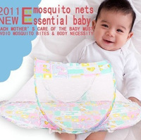 free shipping portable Baby mosquito net Crib Netting ger type folding type bed nets Infant Cushion Mattress Pillow
