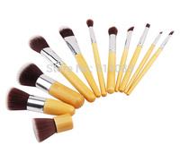 Wood Professional Powder Brush Facial Care Facial Cosmetic Stipple Makeup Tools Makeup Brush Loose Brush 11 pieces for women