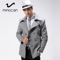 Men Wool & Blends British Style Fashion Slim Fit Coat 53% Wool Soft Feel Men's Winter Autumn Jacket Casaco Masculino 3 Color