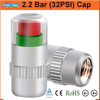 Universal Visiable 4PCS/SET 32 Psi 2.2 Bar Air Warning Alert Tire Valve Pressure Sensor Monitor Light Cap Indicator For Cars