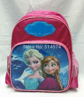 2014 Frozen Children backpacks Frozen bags anna elsa Children's school bags for girls