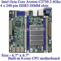 ASRock C2750D4I built-in 8-core Intel Atom CPU motherboard Mini NAS server motherboard Avoton