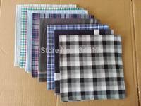 10pcs/lot Free shipping Men's cotton yarn-dyed handkerchief scarf color random