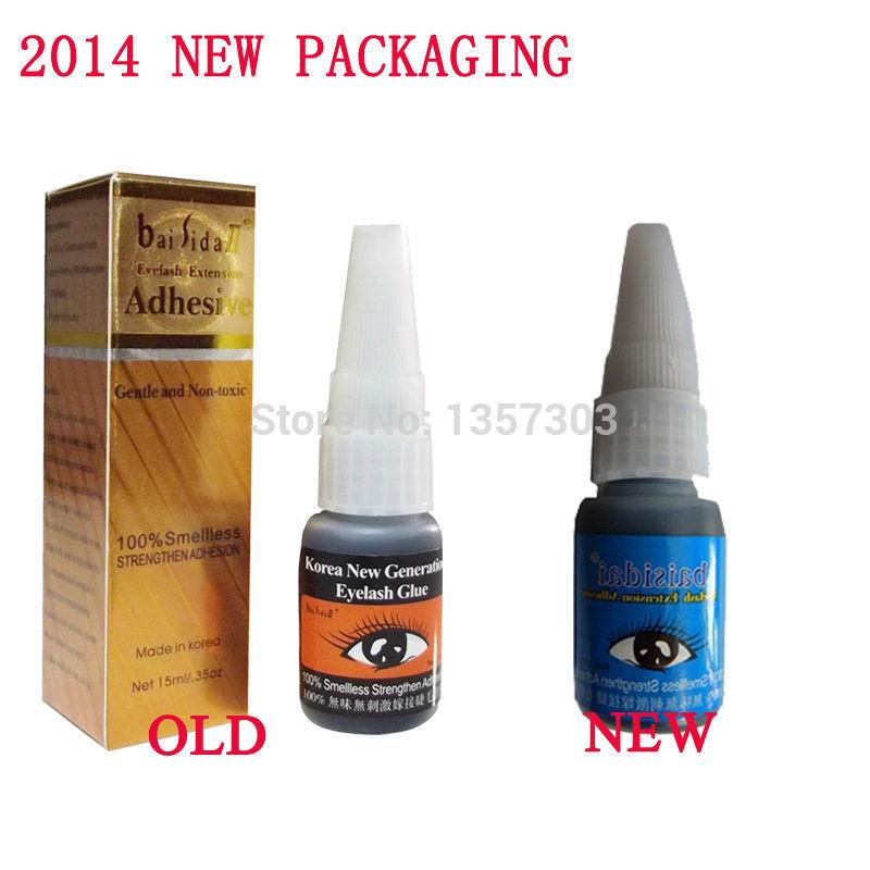 Wholesale! Free Shipping 5 pcs New false eyelashes smelless glue eyelashes extension Adhesive(China (Mainland))