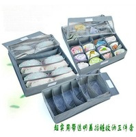 2014 hot good quality bamboo carbon fiber woven storage box three sets of free shipping and wholesale
