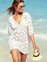 2014 Women's European Version of The Elegant Lace Swimwear Long Sexy Bikini Swimsuit Beach Dress Outside Holidaying Beige/Green