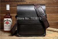 New arrive men's cowskin single-shoulder bag , POL black / brown business men  messenger bag