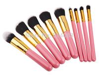 Pink Professional Powder Brush Facial Care Facial Cosmetic Stipple Makeup Tools Makeup Brush Loose Brush 10 pieces for women