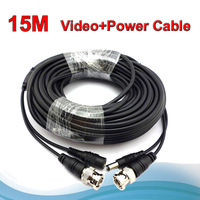 New ! CCTV Cable Video+ Power 15 meters BNC Cable for CCTV Camera System