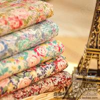 1PCS width 145CM*50CM  rose designer cotton cloth patchwork fabric poplin diy pillow bedding set tecidos quilts scrapbooking