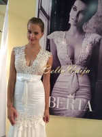 WA1022 Romantic mermaid cut tulle lace applique wedding dress