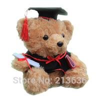 Mini Gift Teddy Bear Plush Toy doll dr. cap doll 18cm