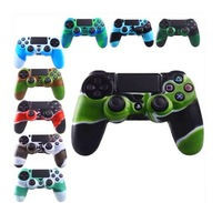2Pcs/lot Free Shipping 10 Styles Silicone Gel Rubber Protective Case Skin Grip Cover For Playstation 4 PS4 Controller
