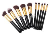 Professional Powder Brush Facial Care Facial Cosmetic Stipple Makeup Tools Makeup Brushes  Loose Brush 10 pieces for women
