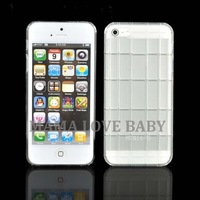 5pcs/lot New Fashion Transparent Soft Thin silica gel Case Cover for Apple iPhone 5 5s White 8879