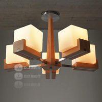 Lamp fashion american rustic wood round sugar oak lamp ceiling light