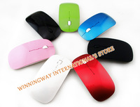 Hot sale Cordless Scroll mouse 2.4GHz Wireless optical Computer PC Mice with various colors gaming mouse for free shipping
