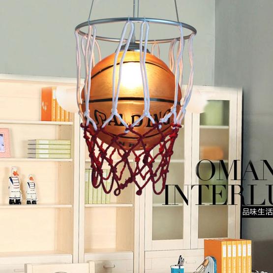 For home lighting basketball football child real luminaire wrought iron + Glass Pendant lamp modern led pendant lights E27*1PCS(China (Mainland))