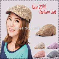 110212 New 2014 Fashion Snapbacks Short Brim Camouflage Baseball Cap fashion Korean Women shading  new brand casquette HAT