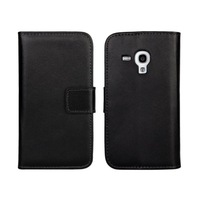 2014 New For Samsung Galaxy Trend Plus S7580 Genuine Leather Wallet Cover Case with 11 Colors Phone Cases