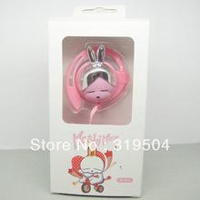 Free Shipping Novelty Korea Mashimaro Cartoon Earphone Ear Hook Musical Headsets Handfree Headphone with Package Free Shipping